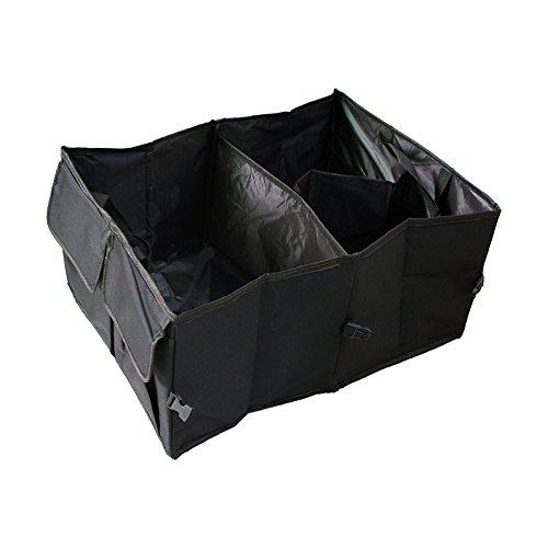 Auto Trunk Organizer Nylon Oxford 3 Compartments with Side Pocket 20 inch x 14 inch x 10 inch