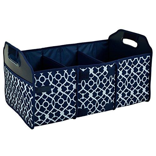 Original Folding Trunk Organizer by Picnic at Ascot - Trellis Blue