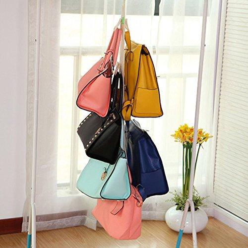 42 hanging purse organizer for closet Hanging Closet Organizer Purse Storage with Swivel Hanger Purses Handbags Satchels Crossovers Backpacks Rack