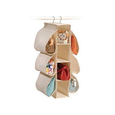 Richards Homewares Hanging Handbag Organizer-CanvasNatural