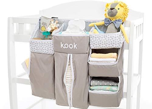 kook Nursery Organizer and Diaper Caddy I Store Baby Essentials I Hanging Diaper Organization