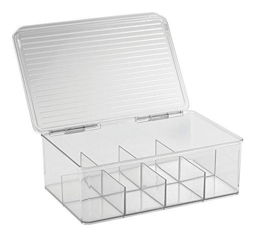 InterDesign Cabinet Binz Tea Bag Organizer Box Clear