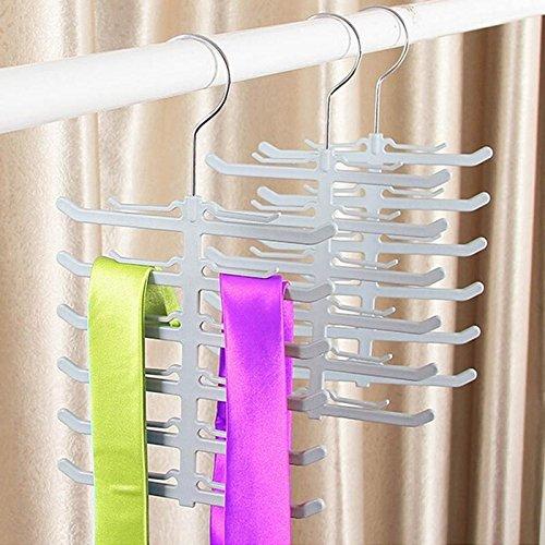 Non-slip Holder Hanger Rack Closet Organizer Neck Ties Necktie Belt Scarves -Pier 27