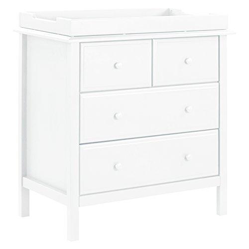 DaVinci Autumn 4 Drawer Dresser White