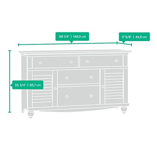 Sauder Harbor View Dresser Antiqued White
