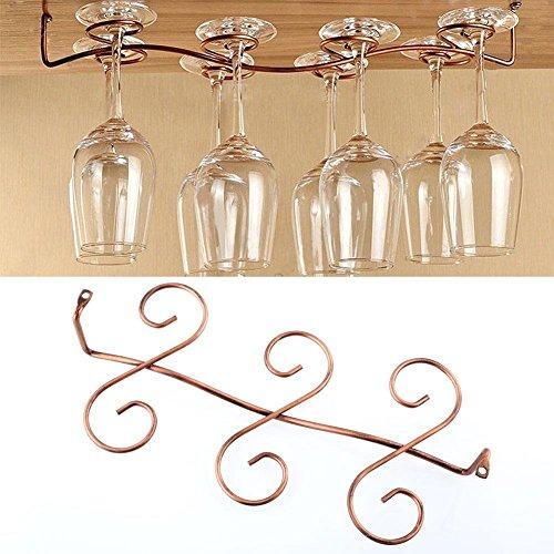 Kicode 68 Wine Glass Rack Stemware Under Cabinet Holder Hanger Shelf Bar Kitchen Display