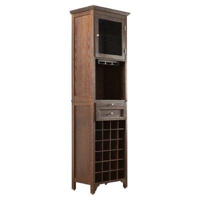 Wine Rack Cabinet Liquor Bar Glasses Bottle Holder Storage Display Floor Indoor Furniture Home Decor