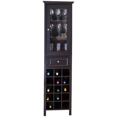 Wine Rack Cabinet Liquor Glasses Bar Bottle Holder Storage Display Floor Indoor Furniture Home Decor