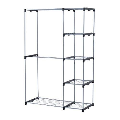 HomCom 69 Freestanding Wire Closet - Silver