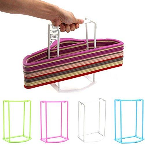 Lucky Fitness 1pcs plastic organizer clothes hanger holder stacker storage rack home storage organza tion hangers