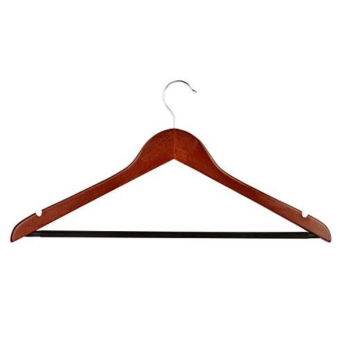 Honey-Can-Do No Slip Wooden Coat Hangers Cherry Wood 24-Pack