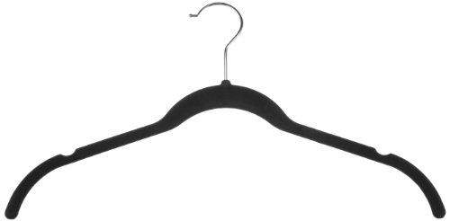 AmazonBasics Velvet ShirtDress Hangers - 30 Pack Black