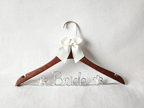 Wood Wedding Hanger Bridal Dress Hanger with Pearl Gifts Bride