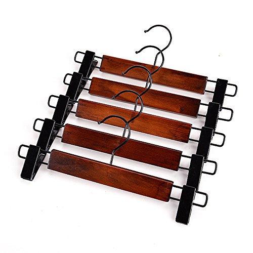 High-grade Solid Gugertree Wooden Skirt Hangers Wooden Pants Hangers Set of 5 2312cm