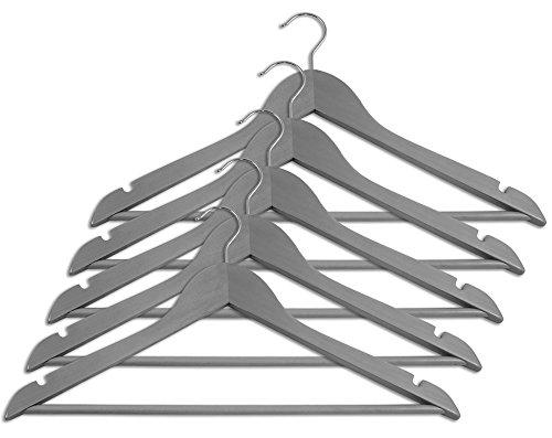 Closet Complete Gray Wood Suit Hanger Set of 5