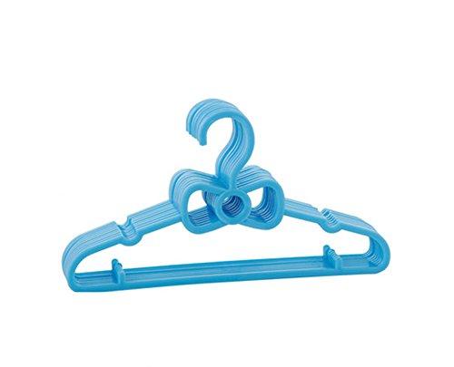 5 Pcs Plastic Kids Children Baby Clothes Hanger Garment Coat Cloth Hanger Hooks blue