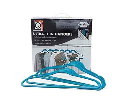 LivingQuarters 50-Pk Ultra Thin Hangers