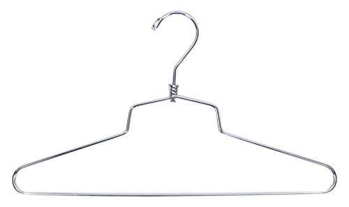 NAHANCO SLD-18HU 18 Heavy Duty Commercial Steel Metal Shirt Hanger Chrome Pack of 25