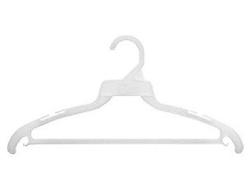 White Plastic Clothes Hangers Dress Suit or Pant 50