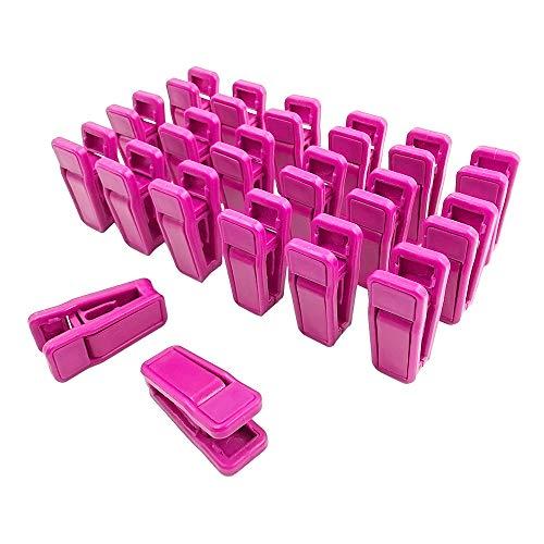 JumpyFire Velvet Hangers Clips 20 PCS Plastic Clothes Hangers Clips Baby Hanger Clips for Coat Hanger Pants Hangers Pink