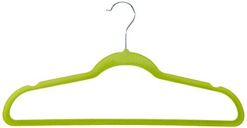Achim Home Furnishings Velvet Coat Hangers Green 10-Pack