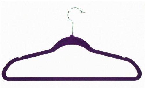 Achim Home Furnishings Velvet Coat Hangers Purple 10-Pack New