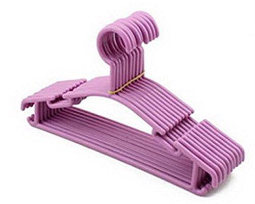 Orilife Slim Lightweight Non-slip Plastic Children Clothes Hangers 20 Pack Purple
