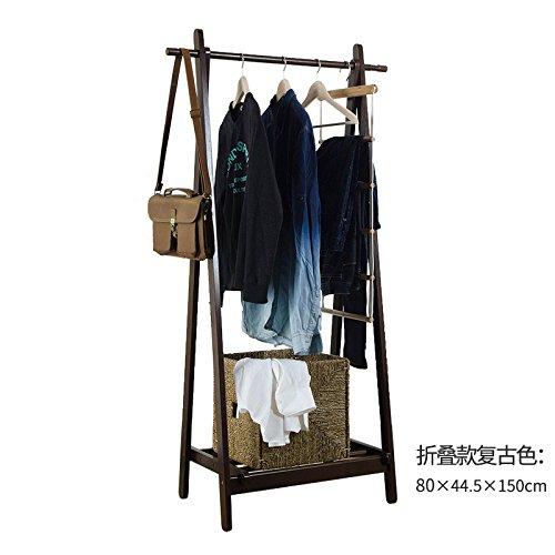Creative coat rack hanger floor bedroom hanger-style living room solid wood childrens clothes hangerE