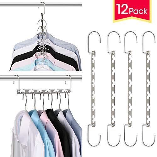 Giftol Space Saving Hangers Metal Hanger Magic Cascading Hanger Closet Clothes Organizer12 Pack