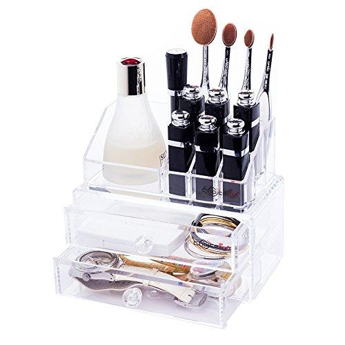 Choice Fun Acrylic Drawer Organizer Jewelry Storage Lipstick Holder Transparent QFJJSN-NSF-8773B
