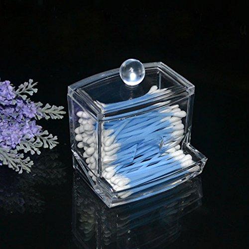 Peyan Acrylic Cotton Swab Organizer Stick Box Cosmetic Holder Makeup Storage Drawer