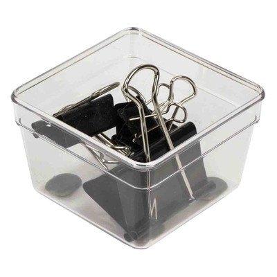 Home Basics PB44680 3 x 3 in Plastic Clear Drawer Organizer