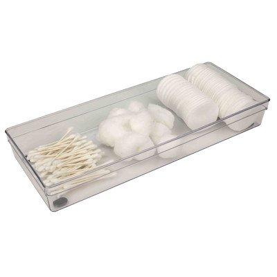 Home Basics Plastic Clear Drawer Organizer Measures 2 x 9 x 6