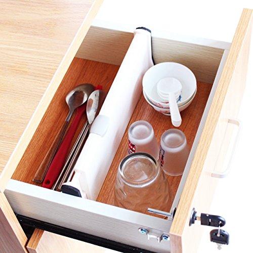 Adjustable Drawer Dividers for Kitchen Office and Dresser Organizer 1-Pack