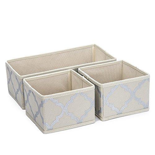 Sorbus Foldable Storage Drawer Closet Dresser Organizer Bins - 3 Piece Set -  Beige