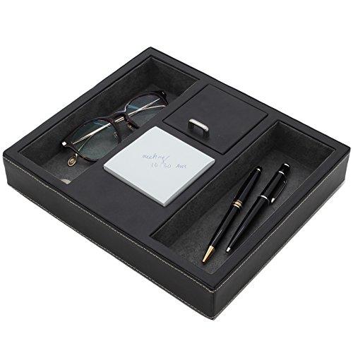 Valet Tray Leather Desk or Dresser Organizer by Tech Swiss