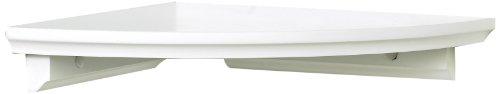 InPlace Shelving 0199020 Corner Shelf Kit 10-Inch by 10-Inch White