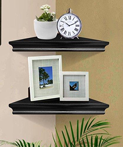 SHELVING SOLUTION Corner Wall Shelf Black
