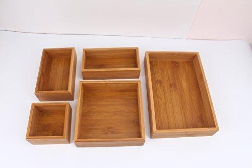 "KitAidPro â""¢Bamboo Drawer Organizer Boxes"