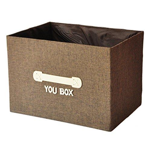 Kylin Express Household Foldable Storage Basket Drawer Organizer Storage Box Coffee