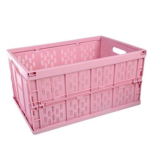 OUNONA Folding Storage Baskets Portable Basket Bins Kitchen Organizer Fruit Vegetable Container DrawersPink