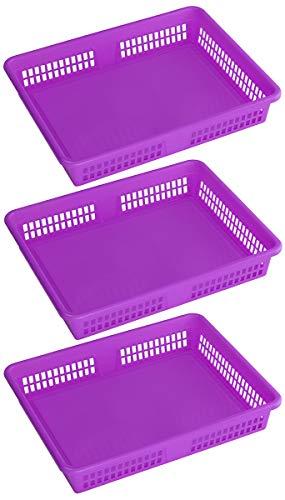 Ybm Home Plastic Storage Baskets  Drawer Organizer 8600-large 3 Purple