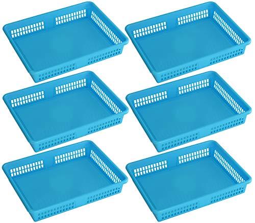 Ybm Home Plastic Storage Baskets  Drawer Organizer 8600-large 6 Blue