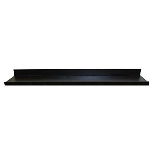 InPlace Shelving 9084682 Picture Ledge Floating Shelf 60-Inch Long Black