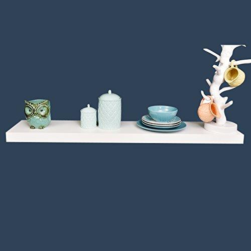 Welland Chicago Floating Shelf 48-Inch White