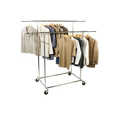 Richards Homewares Commercial Grade Parallel Bar Style Garment Rack-Chrome