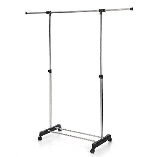 Single Rail Commercial Garment Rack Shelf Clothes Hanger Heavy Duty