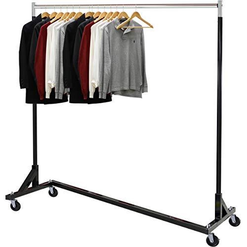 Simple Houseware Commercial Z Base Garment Rack Black