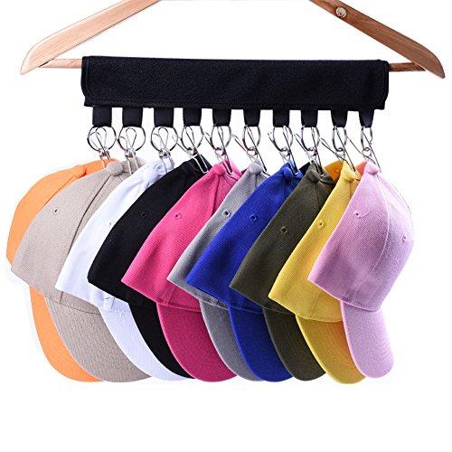 LEKUSHA Cap Organizer Hanger 10 Baseball Cap Holder Hat Organizer for Closet - Change Your Cloth Hanger to Cap Organizer Hanger - Keep Your Hats Cleaner Than a Hat Rack