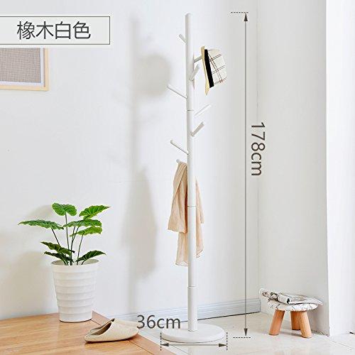 European creative coat rack Hall floor racks bedroom solid wood hanger clothes rackWhite